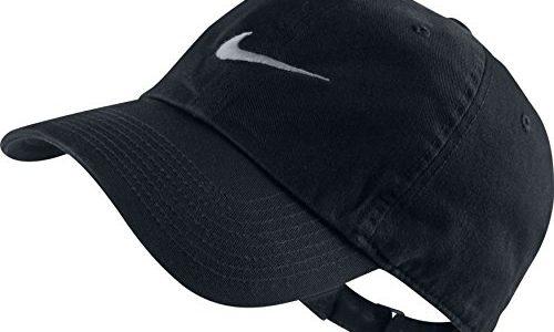 Nike Unisex Baseballkappe Swoosh Heritage 86, Black/Wolf Grey