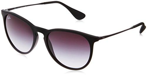 Ray Ban Unisex Sonnenbrille Erika, Gr. Medium Herstellergröße: 54, Schwarz Gestell: schwarz, Gläserfarbe: grau verlauf 622/8G