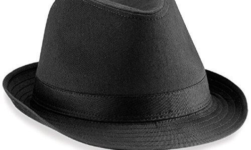 Beechfield Fedora Hut, verschiedene Farben Large / X-Large,Schwarz