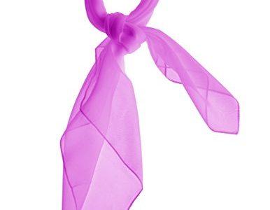 Dresstells Damen Chiffon Nickituch Bandana Halstuch Schals Kopftuch Gr.65 cm x 65 cm Lilac
