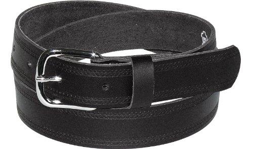 Ledergürtel 3cm breit schwarz! Überlänge bis 180 cm, Bundweite:130
