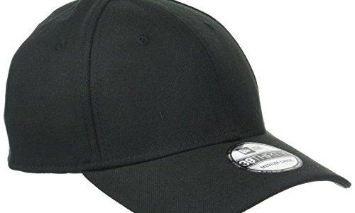 New Era Erwachsene Baseball Cap Mütze 39Thirty Stretch Back, Black, S/M, 11086491