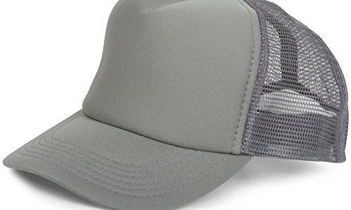 styleBREAKER 5 Panel Mesh Cap, verstellbar, Unisex 04023007, Farbe:Dunkelgrau
