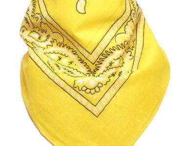 Original Bandana mit Paisley Muster in Gelb 100% Baumwolle