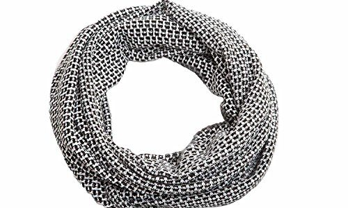 Looptuch Halstuch Schal eleganter Schlauchschal , Herbst Tuch:schwarz