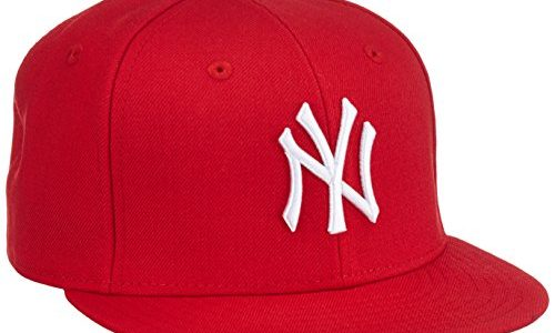 New Era Erwachsene Baseball Cap Mütze MLB Basic NY Yankees 59 Fifty Fitted, Scarlet/White, 6 1/2, 10879077