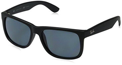 Ray Ban Unisex Sonnenbrille RB4165 Polarisiert, Gr. Large Herstellergröße: 55, Schwarz Gestell: Schwarz, Gläser: Polarized Blau Klassisch 622/2V