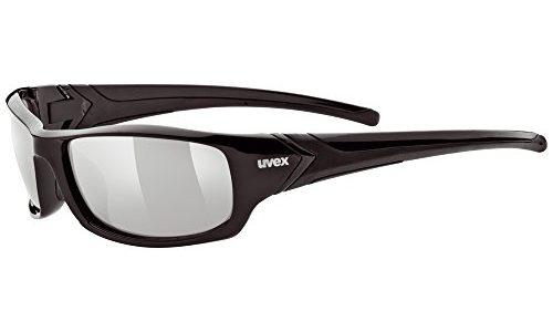 Uvex Unisex Sportsonnenbrille Sportstyle 211, black/lens litemirror silver, One Size, 5306132216