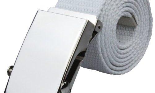Stoffgürtel 4cm breit in weiß | Gesamtlänge 120cm