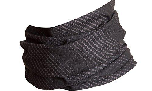 Hilltop Multifunktionstuch, Kopftuch, Motorrad Halstuch, Bandana viele Farben, Farbe/Design:grau