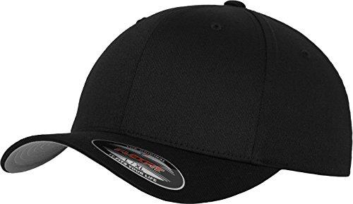 Flexfit Erwachsene Mütze Wooly Combed, Black, Gr. S/M