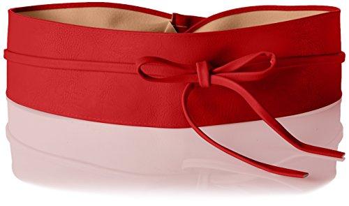 14987-RED-OS: Damen Obi Gürtel Rot, Einheitsgröße