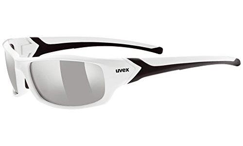 Uvex Unisex Sportsonnenbrille Sportstyle 211, white black/lens litemirror silver, One Size, 5306138216