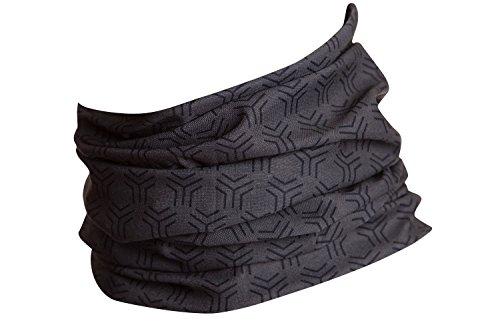 Hilltop Multifunktionstuch, Kopftuch, Motorrad Halstuch, Bandana viele Farben, Farbe/Design:grau schwarz