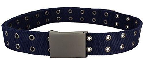 Hochwertiger Nietengürtel / Canvas Belt in navy | Gesamtlänge 130cm