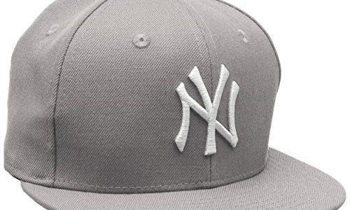60cm – New Era Erwachsene Baseball Cap Mütze Mlb Basic NY Yankees 59Fifty Fitted, Gris grau / weiß,7 1/2inch