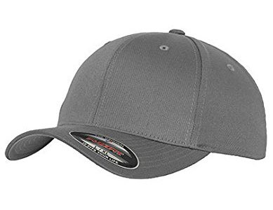 WOOLY COMBED 6277 – Flexfit Fitted Cap – Grey, Size:L/XL