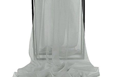 Dresstells Chiffon Schal Stola für Abendkleider in verschiedenen Farben Silver 180cmX72cm