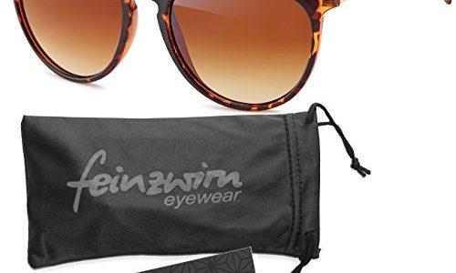Vintage Sonnenbrille im angesagtem 60er Style mit trendigen bronzefarbenden Metallbügeln Brillentrends 2014 leopardenmuster_Verlaufsglas