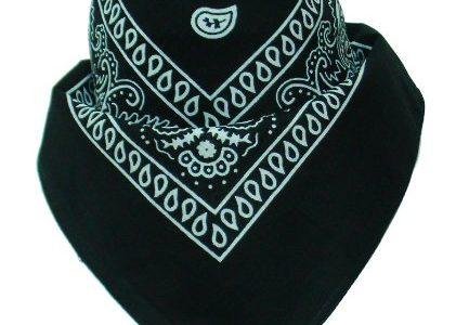 Original Bandana mit Paisley Muster in Schwarz 100% Baumwolle