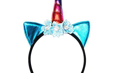 Blue Vessel 1 PC Glitter Metallic Einhorn Stirnband Für Mädchen Und Kinder Party Haar Zubehör 4#