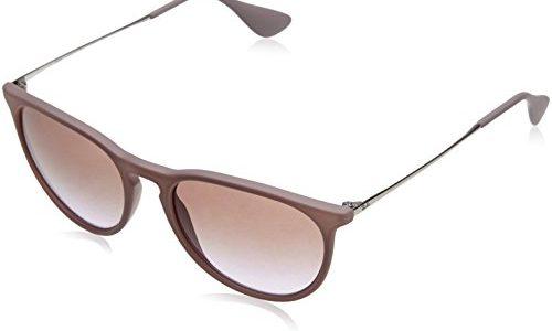 Ray Ban Unisex Sonnenbrille Erika, Gr. Medium Herstellergröße: 54, Braun Gestell: braun,silber, Gläserfarbe: braun-violett verlauf 600068