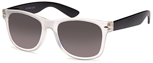 UVprotect® unisex Retro Wayfarer Style Sonnenbrille matt transparent W02-9