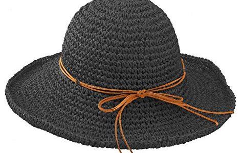 Urbancoco Damen klappbare Kappe flexible Sommer Strand Sonne Hüte schwarz