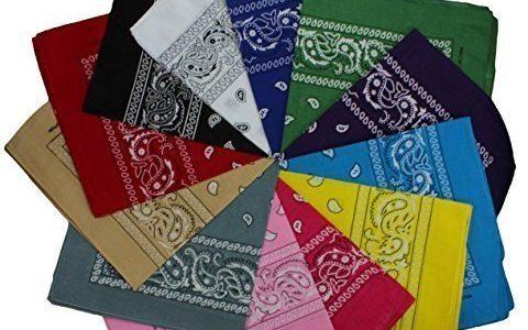 12 Pack Bandanas gemischt in 12 verschiedenen Farben