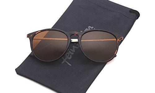Vintage Sonnenbrille im angesagtem 60er Style mit trendigen bronzefarbenden Metallbügeln Leopardenmuster