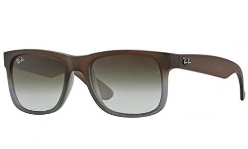 Ray-Ban RB4165 Justin Classic Sonnenbrille Large Herstellergröße: 55, Rubber brown
