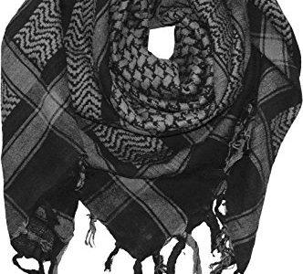 PLO Tuch in 20 Farben 100 % Baumwolle dick, Farben:schwarz mit grau