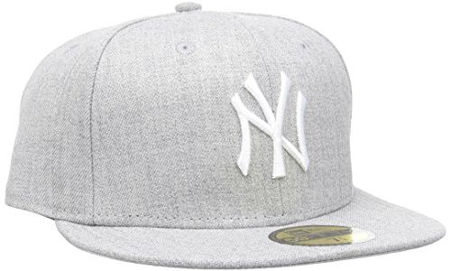 New Era Cap Mlb Basic Neyyan, Heather Grey/White, 7 1/2, 11044974