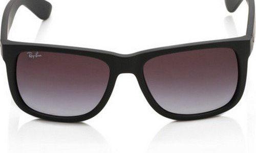 Ray-Ban 0RB4165 Justin Classic Sonnenbrille Large Herstellergröße: 55, Schwarz 601/8G