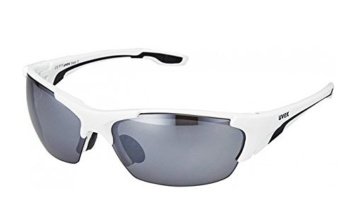 Uvex Unisex Blaze III Sportbrille, One Size, white black
