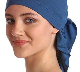 Unisex Baumwolle Bandana Fur Haarverlust Carolina Blue