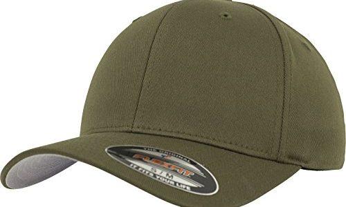 Flexfit Erwachsene Mütze Wooly Combed, BuckGreen, L/XL