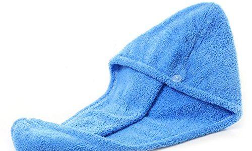 Blue Vessel Microfaser Haar Turban Trocknen Wrap Handtuch Haarkappe blau