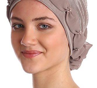 Gerafft und Perlen Kopfbedeckung für Haarverlust, Krebs, Chemotherapie Mink