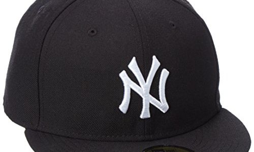 New Era Erwachsene Baseball Cap Mütze Mlb Basic New York Yankees 59Fifty Fitted, schwarz,7 5/8inch – 61cm