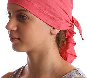 Bandana für Jugendliche für Haarverlust, krebs, chemo Brick Pink