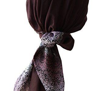 Pre-tie Ultraweiches Kopftuch Aus Baumwolle One Size, Mulberry