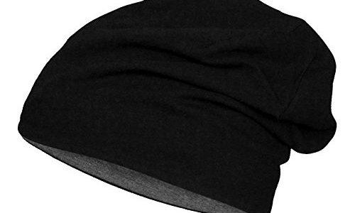 Brandit JERSEY BEANIE Baumwolle elastisch Standard, Black/Charcoal