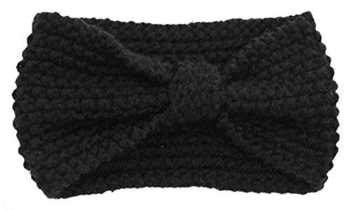 sanwood damen h kelarbeit schleife design stirnband winter. Black Bedroom Furniture Sets. Home Design Ideas