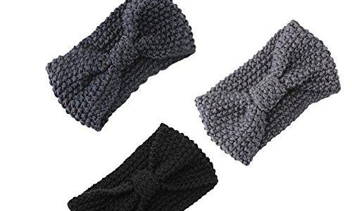 damen gestrickt stirnband h kelarbeit schleife design. Black Bedroom Furniture Sets. Home Design Ideas