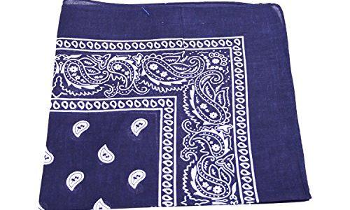 Bandana kopftuch halstuch nickituch biker tuch motorad tuch verschied farben dunkel blau scimaro - Bandana tuch binden ...