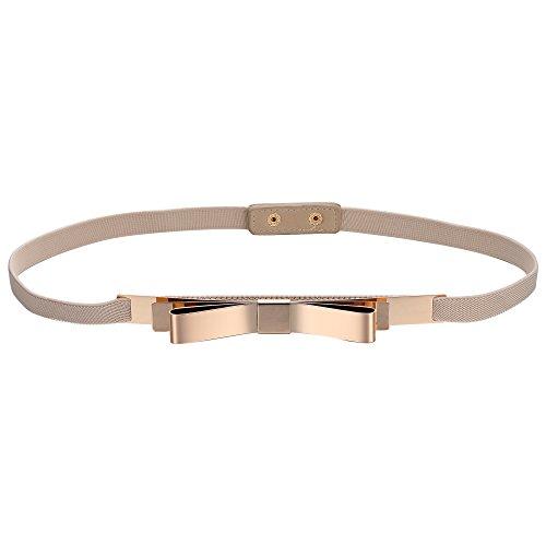 e40e6407b0e012 BABEYOND Damen Taillengürtel Metallic dekorativ Gürtel schmal Gürtel  elastisch Taille Strap Stretchy modisch Gürtel für Kleider Style-9-2