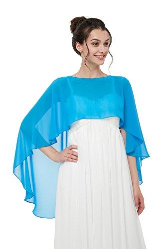 a277ff02d89b65 TBdresses Chiffon Braut Hochzeit Capes Wraps Frauen Abendkleid Stola  Brautjungfer Schals Braut Wrape