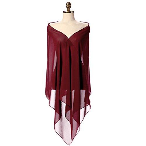 8a9b5f89b69e0c CoCogirls Chiffon Stola Schal für Kleider in verschiedenen Farben zu jedem  Brautkleid – Abendkleid, Hochzeit Abend Gala Empfang One-Size, 52 1