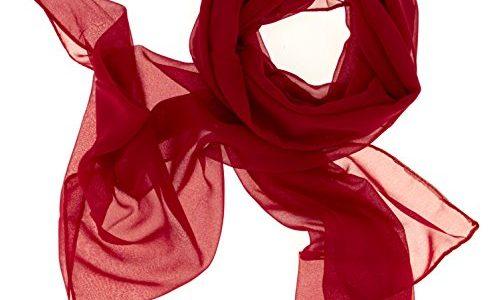 0e24c58b2619b8 Dolce Abbraccio Damen Schal Stola Halstuch Tuch aus Chiffon für Frühling  Sommer Ganzjährig Rot